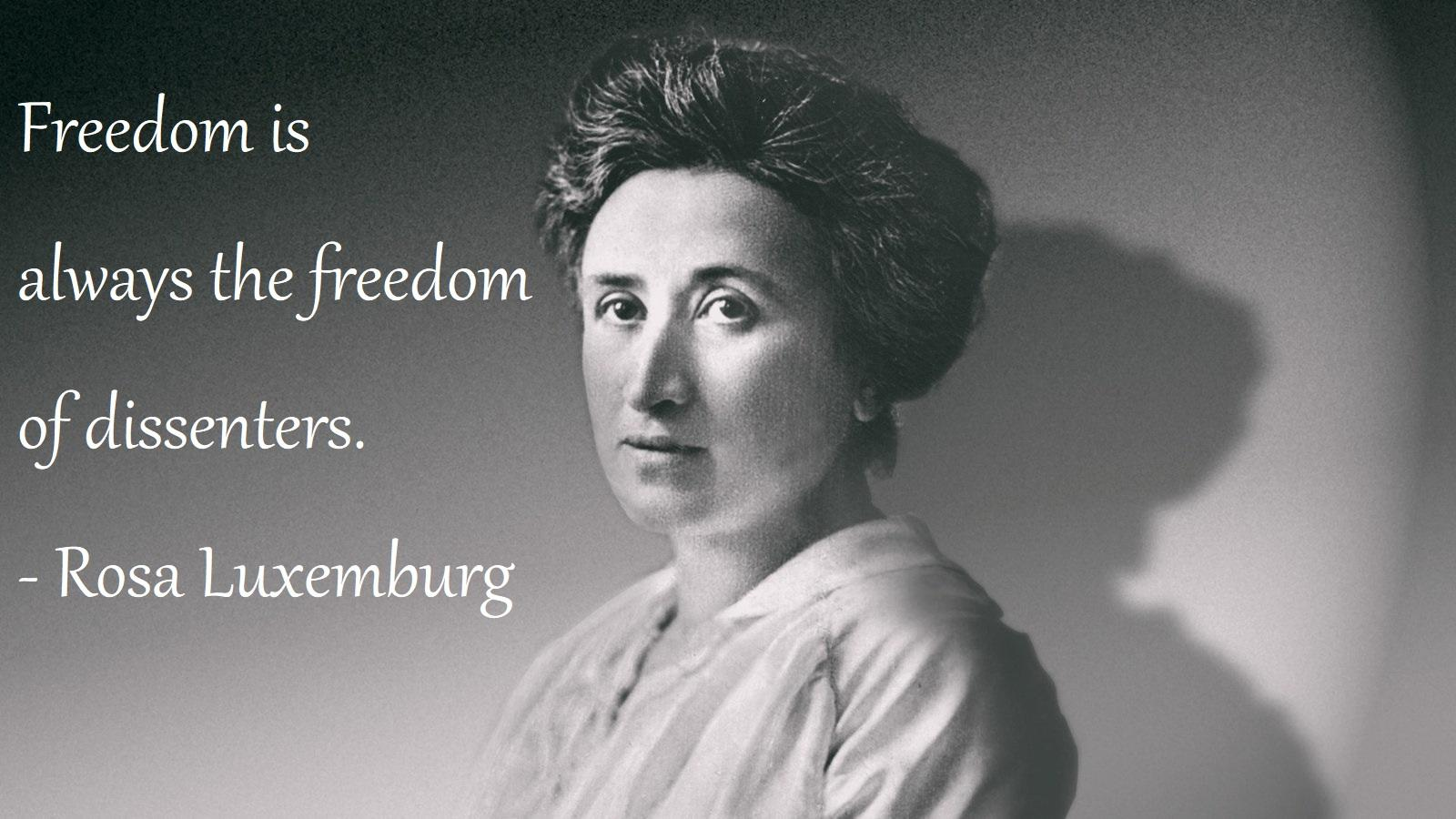 Rosa Luxemburg Quotes Quotes Words