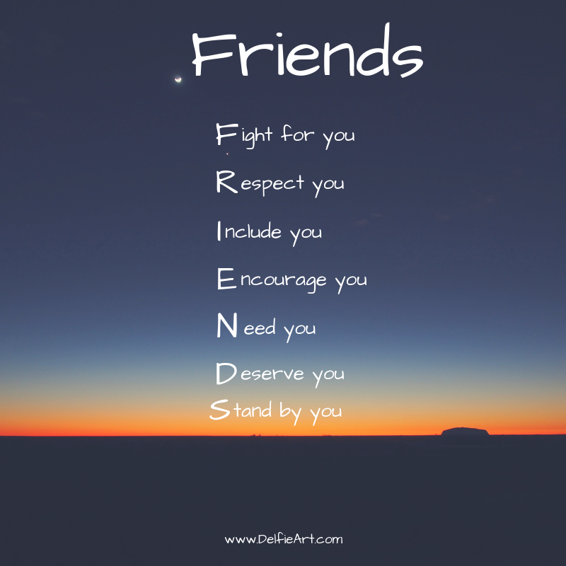 Friends: Fight for you, Respect you, … – Kim Grast [800×800 ...
